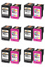 Ink Cartridge Black & Color For HP  60XL 61XL 62XL 63XL 64XL  65XL New Chip