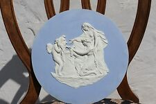"Rare Antique Wedgwood Blue Jasper Ware Cupid as Oracle 12"" Round Plaque (c.1790)"