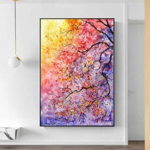 Modern Abstract Art Colored Tree Canvas Painting Wall Picture Home Decor Posters