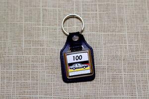 Audi 100 C3 Keyring - Leatherette and Chrome Keytag