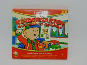 caillou Kindergarten Learn in English, Spanish or French