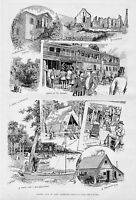 SUMMER DAYS ON LAKE CHAMPLAIN COUNTRY STORE CANOE CAMP ARRIVAL OF STEAMER