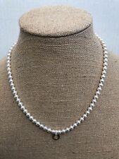 "Authentic Origami Owl 18-20"" White Swarovski Crystal Pearl Strand Necklace RARE!"