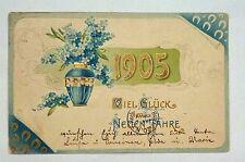 {BJSTAMPS}  GERMAN New Year Viel Gluck Neuen Jahre Postcard  Embossed