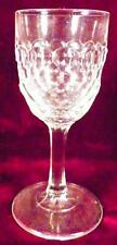 Antique Wine Goblet Vernon Honeycomb Early American Pattern Glass McKee 1880s