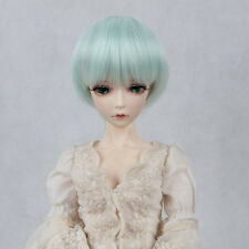 "BJD Doll Hair Wig 6-7"" 1/6 SD DZ DOD LUTS Mint Green Short Straight Hair"