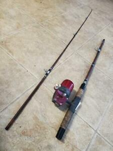 Vintage True Temper Professional 63L Rod & Reel combo - Uni-Spin