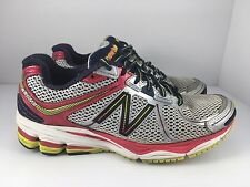 New Balance 880 V2 Men US 8 D Silver Red Blue Athletic Running Shoes