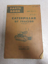 Caterpillar Cat  D7 Tractor Parts Catalog Manual 48A6393 1967