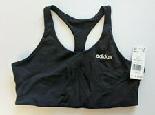 Adidas Fast And Confident Cool Sports Bra, Black/White, Women's Large
