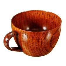 Retro Wooden Cup Primitive Handmade Natural Wood Coffee Tea Beer Wine Juice H5T3