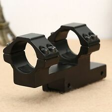 """1"""" One Piece Dual Flat Top Rings Rifle Scope Mount Extended 11mm Dovetail Rail"""