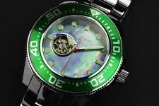 Mens Aragon Divemaster Automatic Open Heart Movement 24 JEWEL MOP Dial