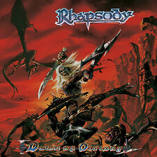 RHAPSODY - Dawn Of Victory CD 2000 Free Sticker Luca Turilli Ancient Bards