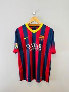 BARCELONA 2013/14 HOME FOOTBALL SHIRT (LARGE) NIKE VINTAGE RETRO ORIGINAL SPAIN