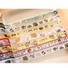 Neko Atsume Cute Cat Animal DIY Washi Masking Tape Decorative Stricker 1pc