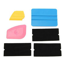 6pcs Squeegee Applicator Tool Felt Edge Decal Tips Vinyl Film Installation Wrap