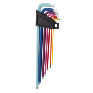 Sunlite 7pc HEX WRENCH SET Rainbow with Ball Ends 1.5/2/2.5/3/4/5/6