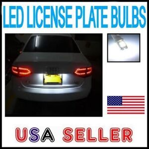2X Error Free LED License Plate Lights For Audi B8 A4 A5 S4 S5 - Bright Canbus
