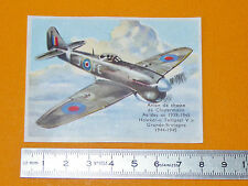 CHROMO BISCOTTES LUC 1952 AVIATION HAWKER TEMPEST V RAF CHASSE CLOSTERMANN AS