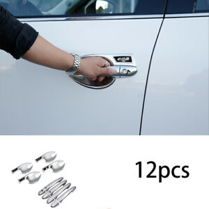 chrome exterior outside door handle sticker cover trim 12pcs For Mazda CX5 CX-5