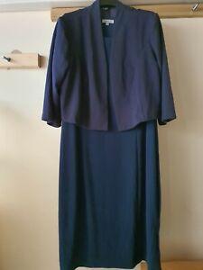 Nightingales Dress with Jacket - Navy - 26 - Womens
