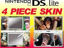 nintendo DS Lite CHIMPANZEE MONKEY -  4 Piece Decal Sticker Skin