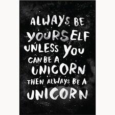 Always Be Yourself Unless / Unicorn funny fridge magnet   (ep)