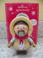 2013 Hallmark Mystery Frosty Cowboy Christmas Ornament