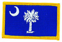 FLAG PATCH PATCHES South Carolina  IRON ON EMBROIDERED UNITED STATES USA STATE