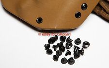 Set of 10x BLACK Chicago Screws/Slotted Posts Custom Concealment Kydex Holsters