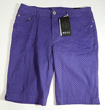 Shorts Size 14 Beau Dawson Womens Purple Polka Dot