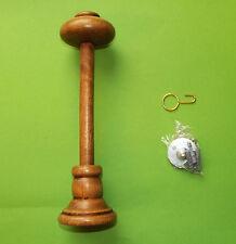 Raffhalter Schalhalter 25 cm lang kürzbar für Gardinen - Holz eiche lasiert