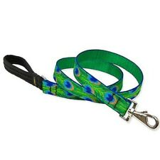 """Lupine 1"""" Tail Feathers 4 Foot Padded Handle Dog Leash Lead"""