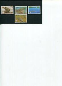 1994 WWF PALAU Estuarine Crocodile 4V set  MNH POST-FREE