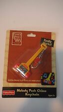NIP Mini FISHER PRICE MELODY PUSH CHIME KEYCHAIN REALLY WORKS! Key Ring Musical