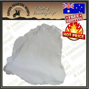 KANGAROO LEATHER BULK x 5 hide skin bundles chrome tanned white Australian Made