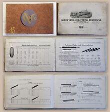 Georg Voss & Co. Freital Produktliste Werbung Naxos-Schmirgelwerk 1927 Schleifer