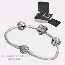 "Authentic Pandora Silver Tribute to Mom 7.5"" Bracelet Gift Set B800515 *SPECIAL"