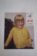 """VINTAGE EMU Knitting Pattern 4 strati & Dk Bambino TwinSet 23 - 27"""" 6110"""