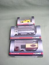 LOT 3 CAMIONS SCAMMELL MECHANICAL HORSE/LEYLAND OCTOPUS/FORD ANGLIA CORGI 1/76