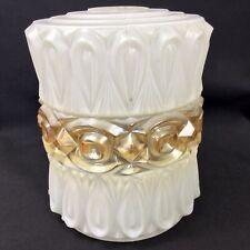 Vintage Glass Light Shade 1960's Textured Glass Pendant