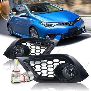 Fit 16-18 Scion Toyota Corolla IM Fog Lights w/Wiring Kit & C6 LED Bulbs - Clear
