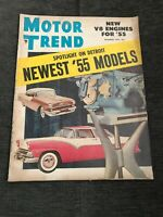 Vintage MOTOR TREND CAR MAGAZINE DECEMBER 1954 Newest '55 Models