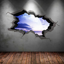 Cracked Space Wall Art Sticker Planets Full Colour Transfer Decal Mural Print