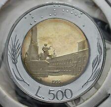 1995  Repubblica Italiana 500 lire  FONDO SPECCHIO  da divisionale