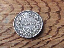 VICTORIA.  1867,  SILVER SHILLING.   RARE.    NICE CONDITION.