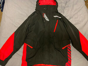 Men's FLY Racing Jacket Black/Red Size XL
