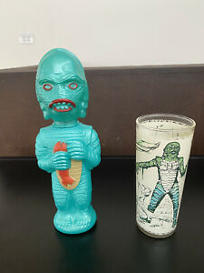 CREATURE SOAKY AND UNIVERSAL MONSTERS PROMO  GLASS 1960'S - RARE AND N MINT