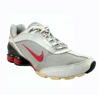 Nike Shox NZ Retro Womens Size 8.5 Silver Red Athletic Training Running Shoes